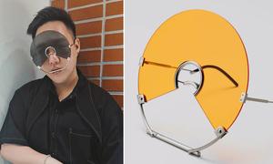Trung Quân Idol gây ngỡ ngàng vì đeo kính như gắn đĩa CD vào mặt