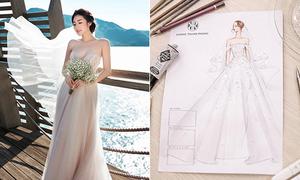 Hé lộ váy cưới đắt đỏ Tú Anh sẽ mặc trong hôn lễ