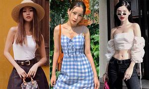 Đồ 'bánh bèo' sang chảnh lên ngôi street style sao Việt tuần qua