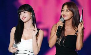 Nước da đối lập giữa Ji Hyo - Momo (Twice) khi đứng cạnh nhau