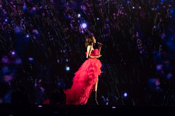 Nhiều fan của Bảo Anh mang theo hoa oải hương để minh họa cho bài hát. Đây chính là loài hoa đã xuất hiện trong MV Ai khóc nỗi đau này được cô ra mắt vào hồi tháng 5 vừa qua.