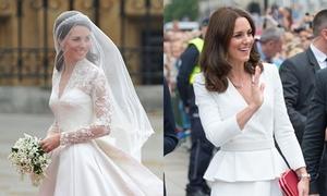 Những khoảnh khắc diện váy trắng lộng lẫy của Kate Middleton