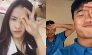 Chi Pu, Xuân Trường U23 cũng mê mệt 'Dele Challenge' dù phải xoắn não