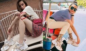Được Hà Hồ lăng xê, đôi sneakers này liệu có thành hot trend thu - đông 2018