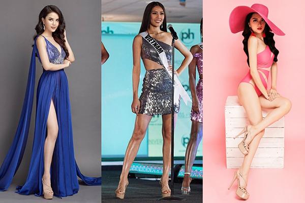 Thiết kế Chinese Laundry xuất hiện cùng các Hoa hậu, Á hậu liên tục trên sân khấu, trong các bộ ảnh thời trang...
