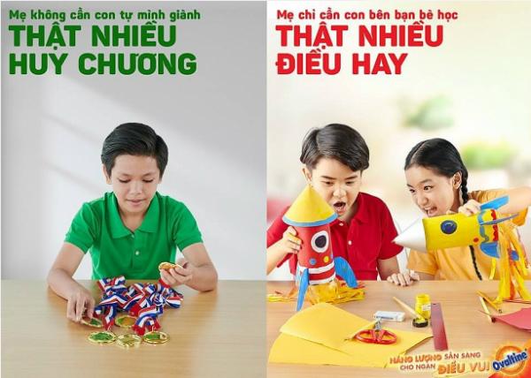 Fanpage củaOvaltine Việt Nam còn đăng thêmbộ ảnh xanh đỏ đối lập,thu hút rất nhiều lượt chia sẻ trên mạng xã hội.
