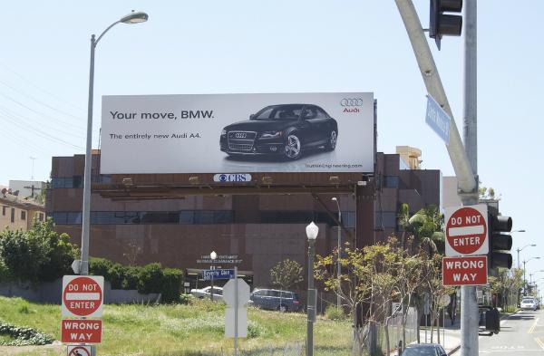 Audi tiếp tục khiêu khích Tới lượt anh đấy BMW.