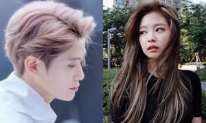 Hai idol gây sốt vì mái tóc dày và đẹp từ gốc đến ngọn