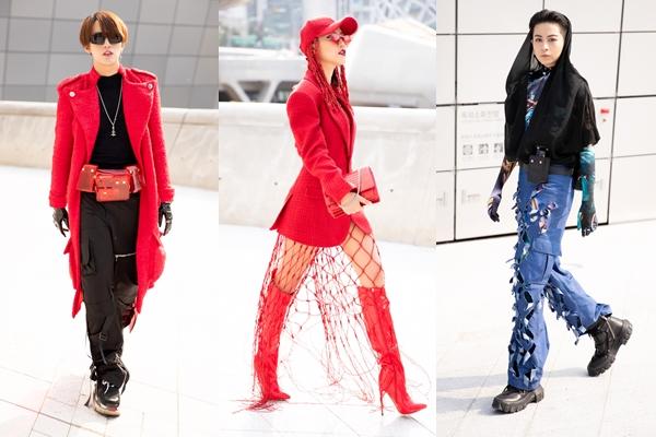 Style cá tính của bộ ba trong ngày đầu dự Tuần lễ thời trang tại Hàn Quốc.