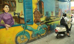 Những bức tường bẩn biến thành khu phố 3D sống động