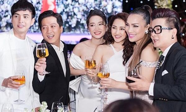 Cả hai từng xuất hiện chung trong đám cưới Nhã Phương - Trường Giang.