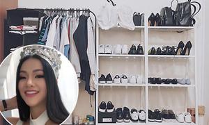 Tủ đồ 'đậm chất sinh viên', hiếm hoi hàng hiệu của Phương Khánh