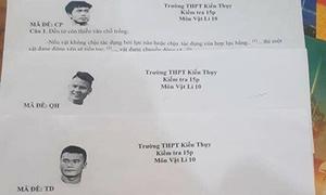 Dàn tuyển thủ Việt thành cảm hứng trong đề vật lý của thầy giáo Hải Phòng