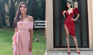 Tiểu Vy khoe chân dài miên man trong ngày đầu tiên ở Miss World