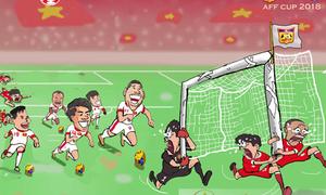 Họa sĩ Việt vẽ tranh cổ vũ tuyển Việt Nam trước trận gặp Malaysia