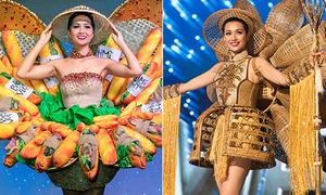 Quốc phục của Việt Nam ở Miss Universe: Đồ độc đáo dần thế chỗ áo dài