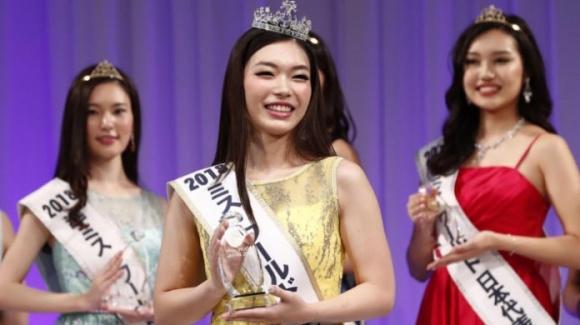 Nhan sắc bị chê kém xinh của Kanako Date lúc đăng quang.