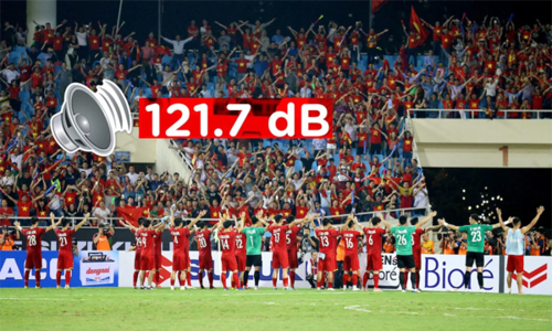 Soán ngôi Malaysia, CĐV Việt hét to nhất AFF Cup 2018