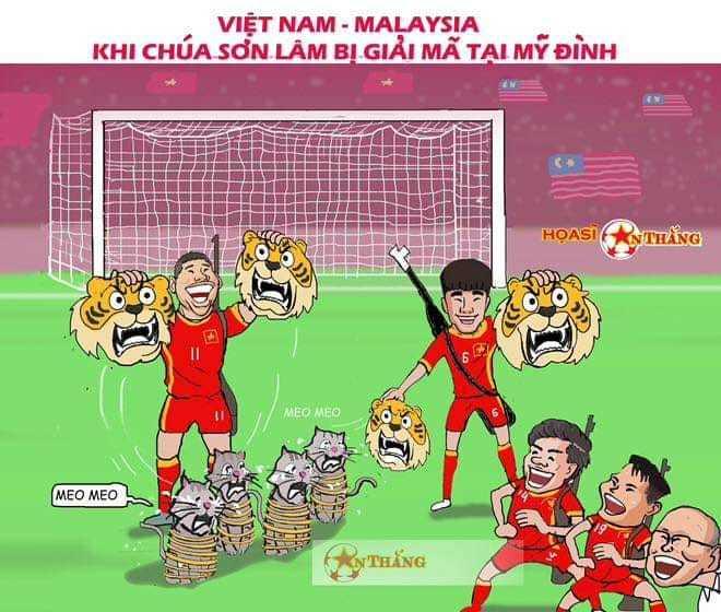 """<p>Bàn thắng duy nhất của Anh Đức giúp thầy trò Park Hang-seo thắng Malaysia 1-0 ở chung kết lượt về hôm 15/12.Sau hai lượt trận, Việt Nam thắng với tổng tỷ số 3-2 và vô địch AFF Cup 2018. Như vậy, sau 10 năm chờ đợi Việt Nam một lần nữa chạm tay tới cúp vô địch. Nhưng chú hổ Malaysia một lần nữa được chế """"mèo lại hoàn mèo"""".</p>"""