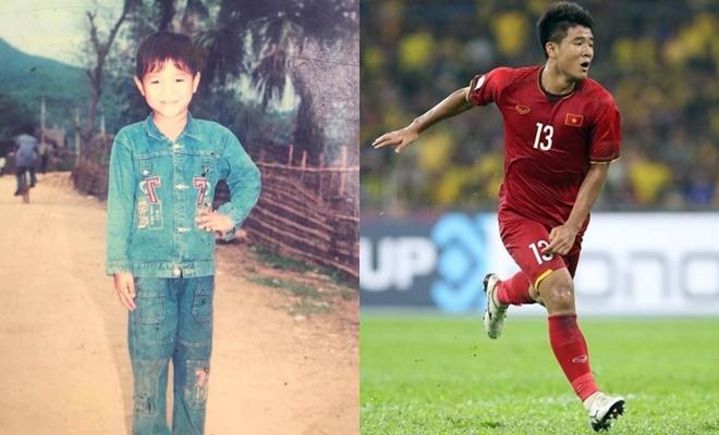 """<p> Hà Đức Chinh được mọi người nhận xét là cầu thủ hài hước nhất tuyển Việt Nam. Bức ảnh ngày bé của """"Chinh Đen"""" cũng bị mọi người trêu đùa rằng anh... photoshop quá tay bởi Đức Chinh ở ngoài đen hơn rất nhiều.</p>"""