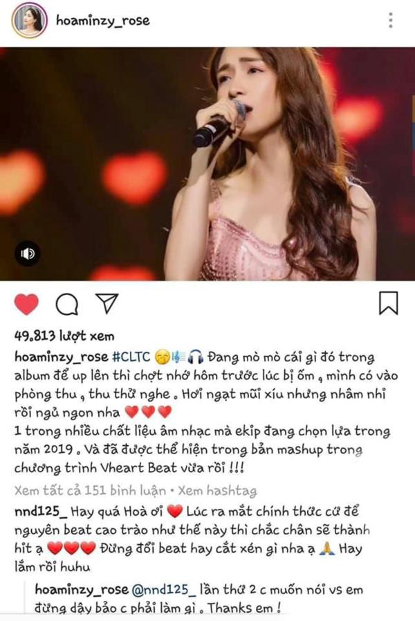 Lời đáp trả của Hòa Minzy với fan bị dư luận chỉ trích.