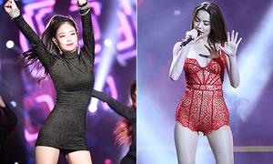 Sự khác biệt của sao Hàn và sao Việt khi chọn đồ diễn