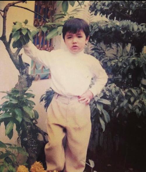 Bình An ngay từ bé đã rất xinh trai, ra dáng một hot boy tương lai.