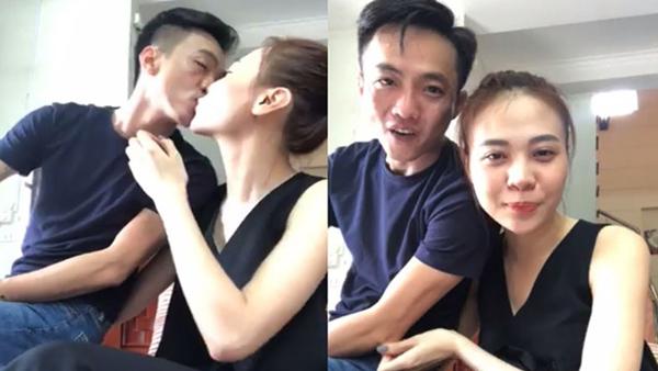 Lần tình tứ nhất của Trang - Cường là khi cả hai livestream giao lưu cùng khán giả và thoải mái bày tỏ tình cảm như đút cho nhau ăn, hôn môi...