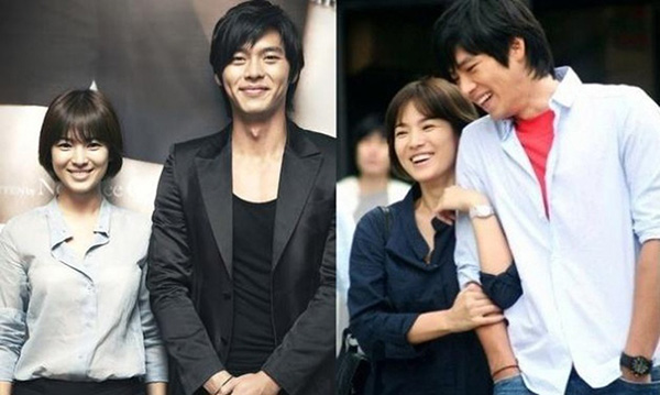 Chuyện tình Hyun Bin - Song Hye Kyo là tâm điểm tin tức của làng giải trí Hàn năm 2009. Cặp đôi quen biết và yêu nhau trong quá trình quay bộ phim Thế giới chúng ta sống. Tuy nhiên, sau 2 năm hẹn hò, cặp đôi đã đường ai nấy đi. Hyun Bin khiến nhiều người tiếc nuối khi tuyên bố thông tin chia tay trước khi lên đường nhập ngũ.