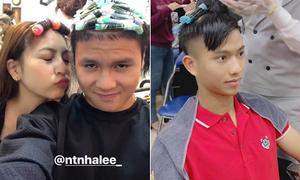 Vừa về nước, Quang Hải - Văn Đức đua nhau đi làm tóc đón Tết