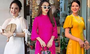 Mỹ nhân Việt diện áo dài đón Tết: Người dịu dàng, kẻ sang chảnh