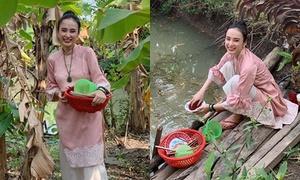 Sao Việt bình dị đón Tết ở quê nhà