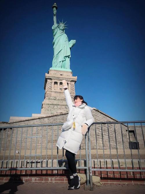 Cao Thái Hà tại Mỹ.