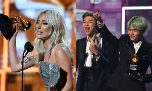 Grammy 2019: Lady Gaga 'thắng lớn', BTS khiến fan 'nín thở' trên bục trao giải