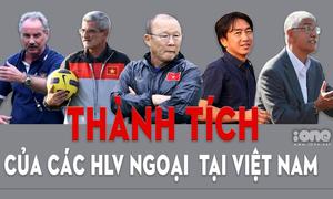 Thành tích của bóng đá Việt Nam dưới các thời HLV ngoại