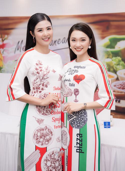 Gặp gỡ nhau trong nhiều hoạt động, Ngọc Hân và Ngọc Nữ trở thành chị em thân thiết. Cả hai thường xuyên hỗ trợ nhau trong công việc. Ngọc Nữ cũng nhiều lần mặc áo dài do đàn chị thiết kế.