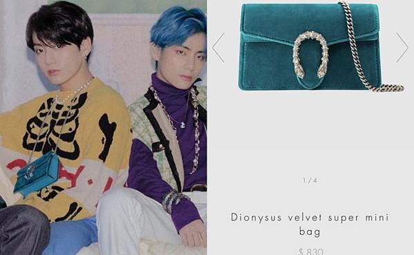 Chiếc túi nữ Gucci mà Jung Kook đeo cũng có tên Dionysus.