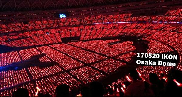 Hình ảnh tại concert ở Kyocera Dome năm 2017 của iKON.