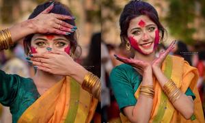 Vẻ đẹp của thiếu nữ Ấn Độ trong lễ hội Holi
