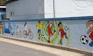 HLV Park và đoàn quân U23 Việt Nam sống động trên tranh tường ở Hàn Quốc