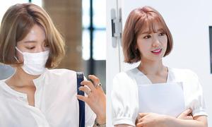 Park Shin Hye trẻ trung khác lạ khi biến hóa với tóc màu nổi