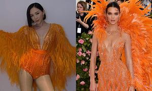Tóc Tiên giải thích khi bị nghi nhái váy Kendall Jenner