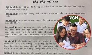 'Bài tập về nhà' của thầy giáo Ngữ văn khiến học trò rơi nước mắt
