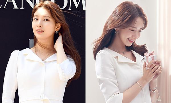 Không chỉ nổi bật hơn Suzy khi được tô điểm bằng loạt trang sức đắt tiền, Yoona còn nhỉnh hơn