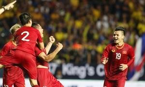 Sau 11 năm mới thắng Thái Lan, tuyển thủ Việt Nam hào hứng ăn mừng
