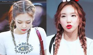 8 sao Hàn tết tóc hai bên: Jennie cá tính, Na Yeon đáng yêu