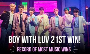 'Boy With Luv' (BTS) trở thành ca khúc đi vào lịch sử show âm nhạc Kpop