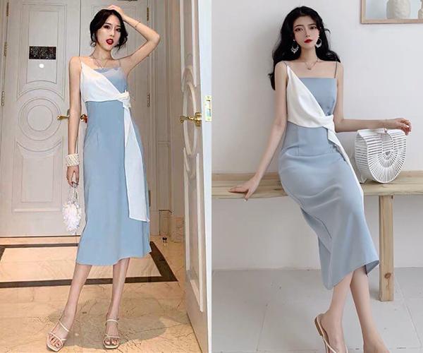 Bộ váy này tuy không hợp để diện đến bối cảnh công ty như Nhã nhưng có thể mặc đi tiệc, đi biển. Giá bán của chiếc váy cũng rất đa dạng, tuy nhiên trung bình các shop online nhận order với mức 250-400k.