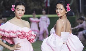 H'Hen Niê - Lệ Hằng ngọt ngào làm vedette show thời trang