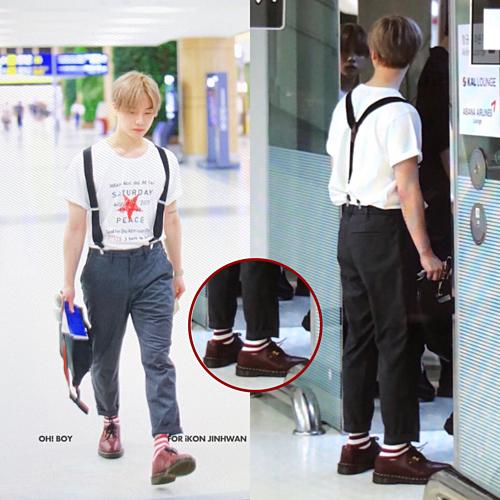 Fan phát hiện Jin Hwan đi đôi giày từng gắn với một kỷ niệm về B.I. Hành động tinh tế này của Jin Hwan cho thấy anh vẫn luôn nhớ đến cậu em dù không còn ở lạinhóm.